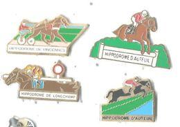 Hippodrome : Lot 4 Pins Vincennes Longchamp Auteuil (2) - Pin's