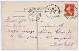DEUX-SEVRES - Cachet Manuel CERIZAY Du 11 -4  09 - Storia Postale