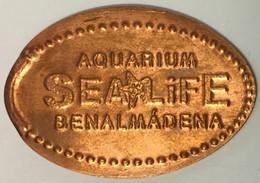 AQUARIUM SEA LIFE BENALMÀDENA PIÈCE ÉCRASÉE ELONGATED COIN MEDAILLE TOURISTIQUE MEDALS TOKENS PIÈCE MONNAIE - Monedas Elongadas (elongated Coins)