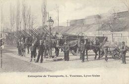 CPA 69 - LYON VAISE - Entreprise De Transports L. Tournus, Attelages De Chevaux - Postales