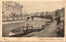 CP WIEN - KAI MIT MARIENBRÜCKE U DIANABAD - Nr 1069 SANS NOM D'EDITEUR - CIRCULEE EN 1937 - Vienna Center