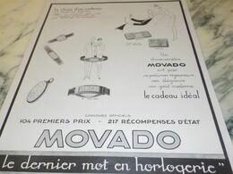 ANCIENNE PUBLICITE LE CHOIX D UN CADEAU MONTRE ERMETO DE MOVADO  1927 - Bijoux & Horlogerie