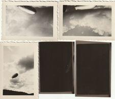 Lot De 3 Photos 72 Mm X 50 Mm + 2 Négatifs - 1933 - Dirigeable  Zeppelin Hindenburg Scan R/V - Aviation