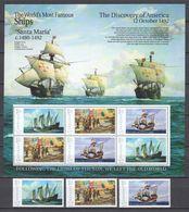 Grenada - MNH Serie + Sheet - MS SANTA MARIA - CHRISTOPHER COLUMBUS - Bateaux