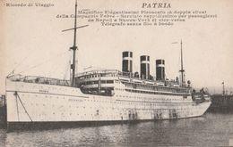 Cartolina - Postcard / Viaggiata - Sent /   Piroscafo - Patria , Servizio  Napoli -  Nuova York - Piroscafi