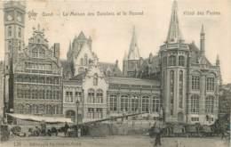 BELGIQUE GAND LA MAISON DES BATELIERS ET LE NOUVEL HOTEL DES POSTES - Gent