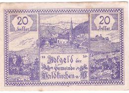 Österreich Austria Notgeld 20 HELLER FS1133 WALDKIRCHEN /132M/ - Austria