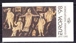Europa Cept 1998 Greece Booklet  ** Mnh (49059) - Europa-CEPT