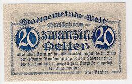 Österreich Austria Notgeld 20 HELLER FS1167I WELS /132M/ - Austria