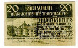 Österreich Austria Notgeld 20 HELLER FS1078I TRAISMAUER /132M/ - Austria