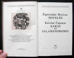 Lithuanian Book / Novelės, Karas Su Salamandromis 1987 - Libros, Revistas, Cómics