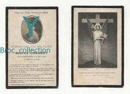 Dun-sur-Auron, Bourges, Mémento De Béatrix Créancy, 3/06/1919, 21 Ans, Souvenir Mortuaire Avec Photo - Images Religieuses