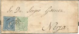 ALFONSO XII ENVUELTA LUTO A NERJA MALAGA CON IMPUESTO DE GUERRA - 1875-1882 Royaume: Alphonse XII
