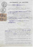 Engagement Location 1927 Rue Bailleul à PARIS Sur Papier Timbré 2frs Et 40c Timbre Octogonal + Paire Fiscaux 60 C.bistre - Fiscali