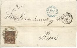 ALFONSO XII MALAGA A PARIS 1877 CASA LARIOS - 1875-1882 Royaume: Alphonse XII