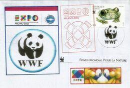 EXPO UNIVERSELLE MILANO 2015. Lettre Pavillon WWF Avec Timbre WWF Du Pavillon De HAÏTI & Tampon Officiel EXPO (RARE) - Lettres & Documents