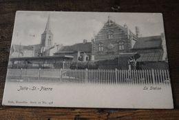 Jette St Pierre   Pk Cpa  Station Gare Train Vapeur Stoomtrein - Jette