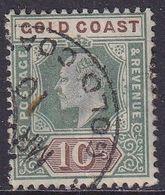 GOLD COAST 1902 SG #47 10sh Used CV £160 Wmk Crown CA - Costa D'Oro (...-1957)