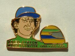 PIN'S ADIEU AYRTON SENNA - WORLD CHAMPION 1988 - 1990 - 1991 - F1