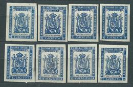 Espa�a Franquicias Militares 1894 Edifil 28s/35s (*) Mng - Franchise Militaire