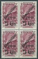 Espa�a Beneficencia 1940 Edifil 42 ** Mnh Bloque De Cuatro - Wohlfahrtsmarken