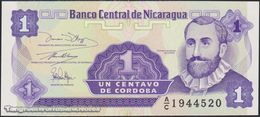 TWN - NICARAGUA 167a - 1 Centavo 1991 Prefix A/C UNC - Nicaragua