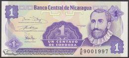 TWN - NICARAGUA 167a - 1 Centavo 1991 Prefix A/E UNC - Nicaragua