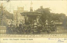 "CP De ROMA ( Rome ) "" Villa Pamphili , Fontana Di Cupido  "" - Andere Monumenten & Gebouwen"