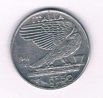 50 CENTESIMI  1941  R ITALIE /5850/ - 1861-1946 : Kingdom