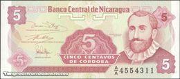TWN - NICARAGUA 168a - 5 Centavos 1991 Prefix A/A UNC - Nicaragua