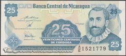 TWN - NICARAGUA 170b - 25 Centavos 1991 Prefix A/E UNC - Nicaragua