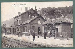 HERMALLE SOUS HUY- La Gare Station Statie Bahnhof- 2 Scans - Engis