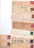 TIMBRE TYPE MAZELIN..EXPO 37...MERCURE...PAIX.........LOT DE 48 SUR CPA.....VOIR SCAN......LOT 239 - 1945-47 Cérès De Mazelin