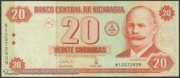 TWN - NICARAGUA 197 - 20 Cordobas 10.3.2006 Prefix B UNC - Nicaragua