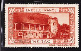 VIGN33 NERAC Vignette De Collection LA BELLE FRANCE 1925s Helio VAUGIRARD PARIS Erinnophilie - Erinnophilie