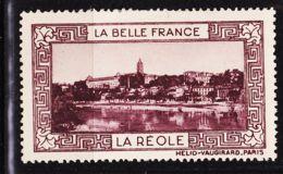 VIGN41 LA REOLE Vignette De Collection LA BELLE FRANCE 1925s Helio VAUGIRARD PARIS Erinnophilie - Tourism (Labels)