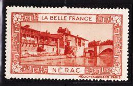 VIGN42 NERAC Vignette De Collection LA BELLE FRANCE 1925s Helio VAUGIRARD PARIS Erinnophilie - Tourism (Labels)