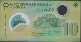 TWN - NICARAGUA 201a - 10 Cordobas 12.9.2007 (2010) Polymer - Prefix A/1 UNC - Nicaragua