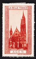 VIGN65 AGEN Vignette De Collection LA BELLE FRANCE 1925s Helio VAUGIRARD PARIS Erinnophilie - Tourism (Labels)