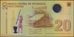 TWN - NICARAGUA 202a - 20 Cordobas 12.9.2007 (2010) Polymer - Prefix A/1 UNC - Nicaragua