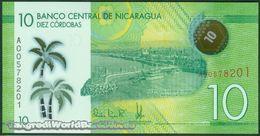 TWN - NICARAGUA 209a - 10 Cordobas 26.3.2014 (2015) Polymer - Prefix A UNC - Nicaragua