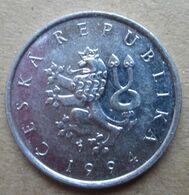 1994 CECOSLOVACCHIA Leone Araldico 1 Korun - Circolata - Tchécoslovaquie