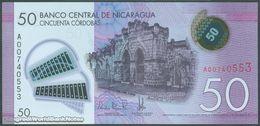 TWN - NICARAGUA 211a - 50 Cordobas 26.3.2014 (2015) Polymer - Prefix A UNC - Nicaragua