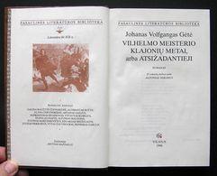 Lithuanian Book / Vilhelmo Meisterio Klajonių Metai Goethe 1996 - Libros, Revistas, Cómics