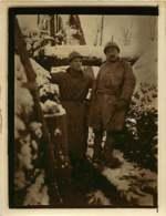 270720 - MILITARIA PHOTO GUERRE 14/18 WW1 - Groupe Poilus Dans Les Tranchées Neige Hiver Militaires Soldats - Guerra, Militari