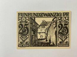 Allemagne Notgeld Paderborn 25 Pfennig - [ 3] 1918-1933: Weimarrepubliek