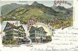 SUISSE - CARTE POSTALE PENSION HOLDENER GRUSSAUS OBERIBERG CAD 13 JUILLET 1903 POUR FRANCE - Ohne Zuordnung