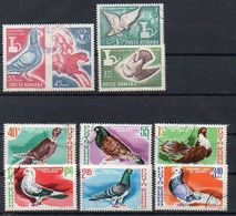 Rumänien 1965, 1981 MiNr. 2457/2459, 3777/3782  O/ Used;  Tauben - 1948-.... Republiken