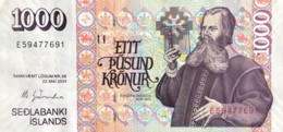 Iceland 1.000 Kronur, P-59 (22.5.2001) - AU - Islande