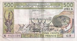 West African States 500 Francs, P-706Kc (1981) - Very Fine - Westafrikanischer Staaten